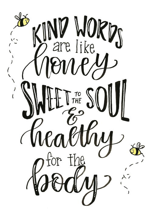Kind Words Are Like Honey Hand Lettering Tutorial