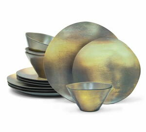 12pc Organic Metallic Dinnerware Set Giveaway