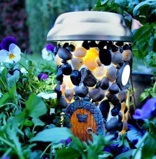 Solar Powered Fairy Garden House