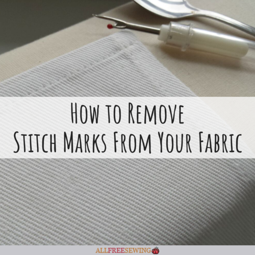 How to Remove Stitch Marks From Fabric