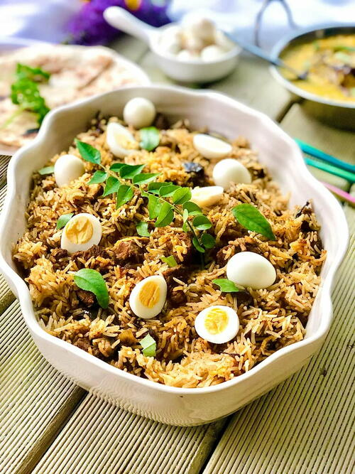 Superb Lamb Biryani With Quail Eggs
