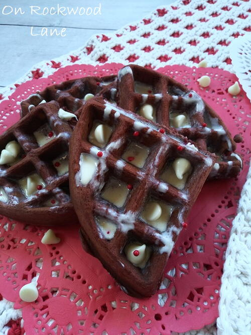 Red Velvet White Chocolate Chip Waffle
