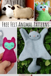 36 Felt Animal Patterns