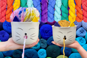 Darn Good Yarn Cat Yarn Bowl & Yarn Bundle Giveaway