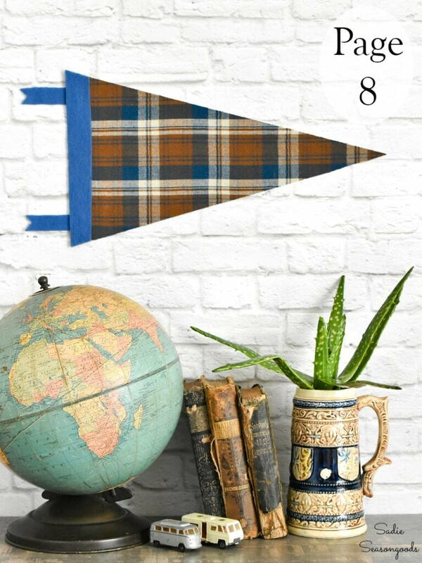 Crafting With Flannel - DIY Flannel Pennant