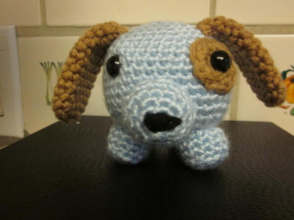 Roly Dog Crochet Baby Toy