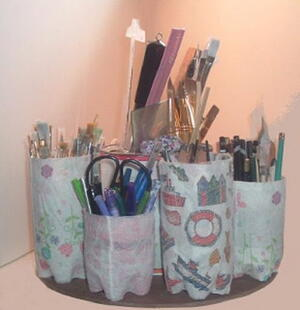 Recycled Water Bottle Supply Organizer