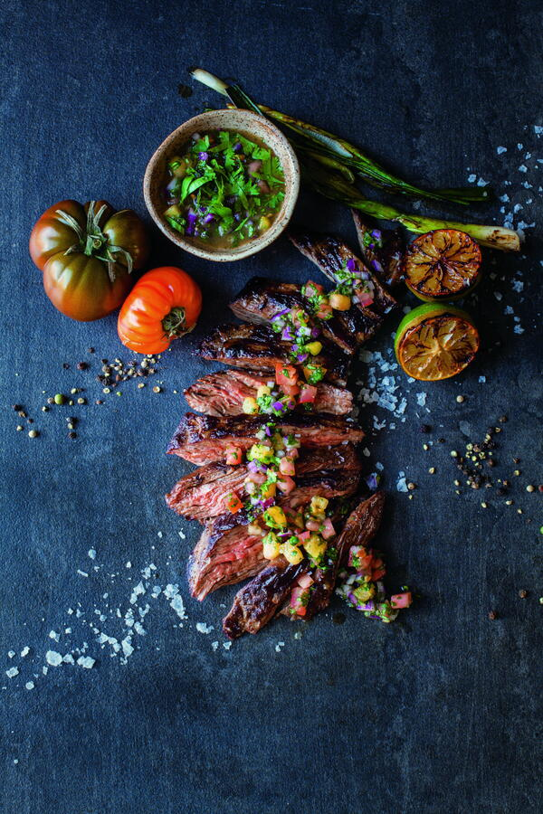 Seared Skirt Steak with Brazilian Vinagrete