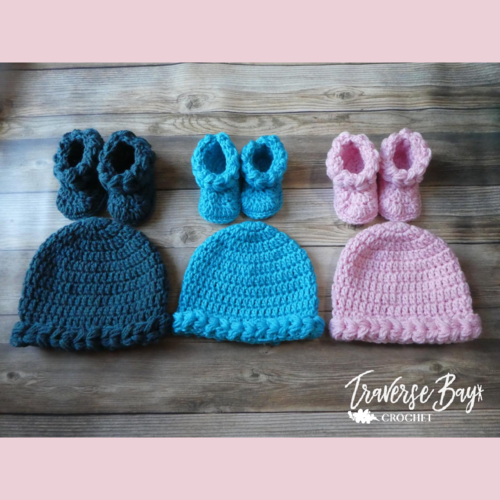 Braided Baby Hat & Booties