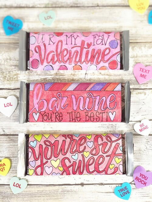 Free Printable Candy Bar Wrappers For Valentine's Day