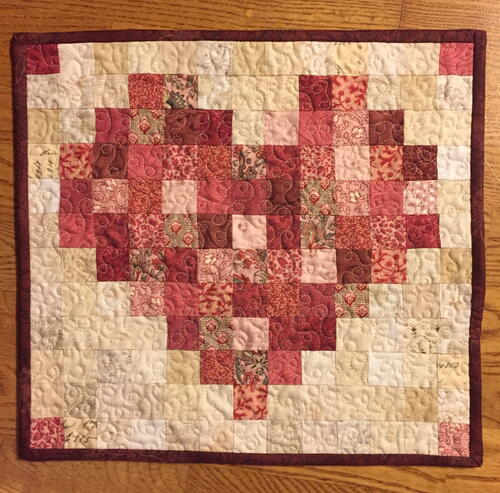 Happy Heart Quilt — A Scrappy Mini Quilt Pattern