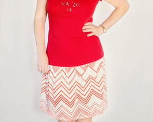 Fun and Flirty Fall Skirt