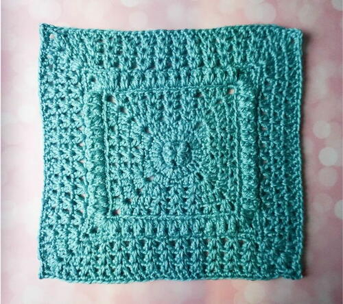 Popcorns And V-stitch Square