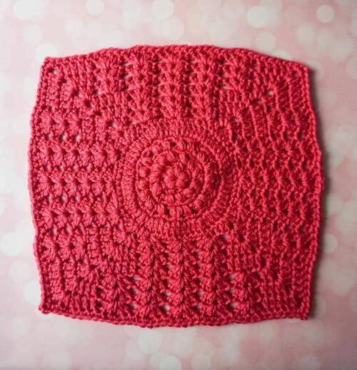 Puffs And Double V-stitch Square
