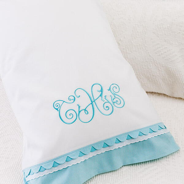 Double-Scalloped Pillowcase: A Sewing & Embroidery Project