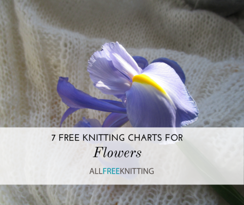 7 Free Knitting Charts for Flowers