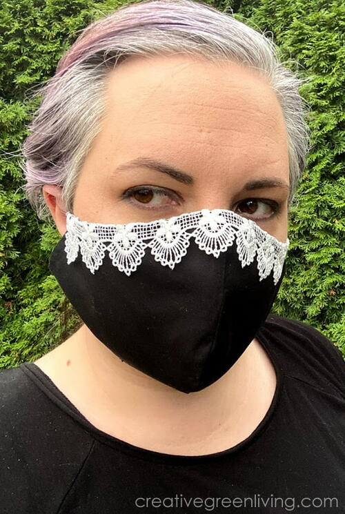 RBG-Inspired Dissent DIY Face Mask