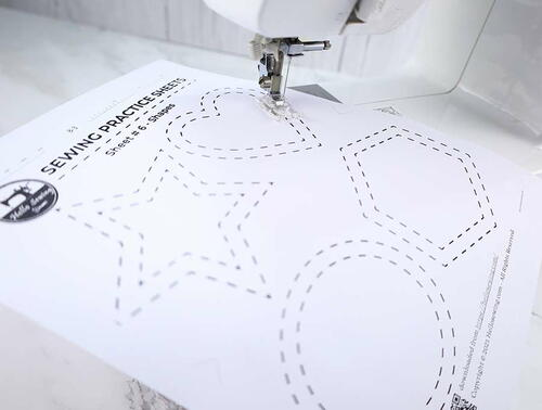 Printable Sewing Practice Sheets