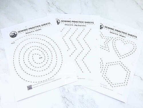 6 Free Sewing Practice Sheets
