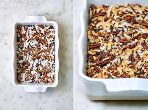 Chocolate Ginger Cake With Coconut  Pecans