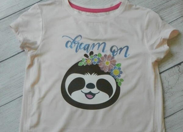 Sloth and Flowers Vinyl Shirt