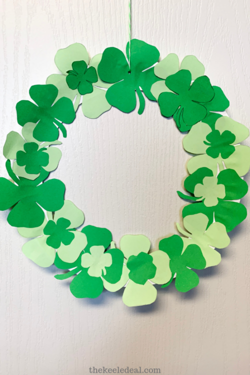 St. Patrick's Day Paper Plate Wreath