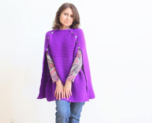 Beginner-Friendly Free Crochet Cape Pattern