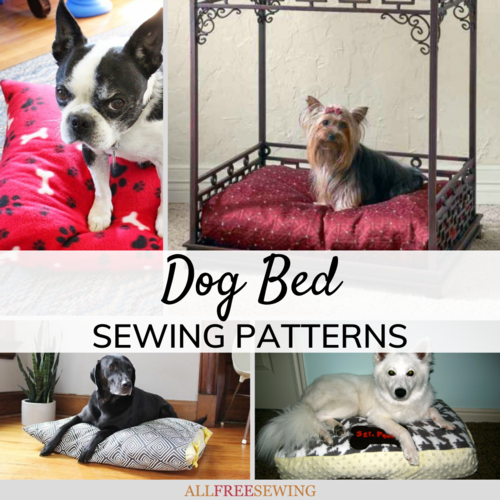 10 Free Dog Bed Patterns