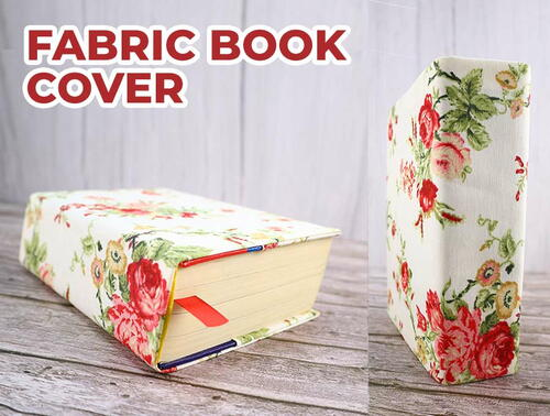 Diy Book Cover From Fabric
