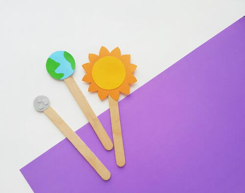 Easy Earth Moon Sun Paper Craft