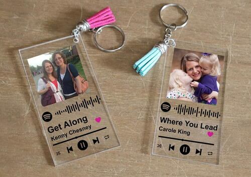 Mothers Day Spotify Keychain