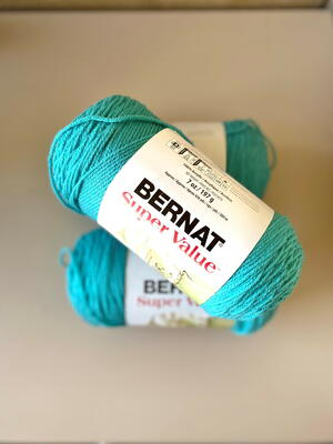 Beautiful Blue Bernat Super Value Yarn Giveaway
