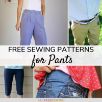 38 Free Sewing Patterns for Pants