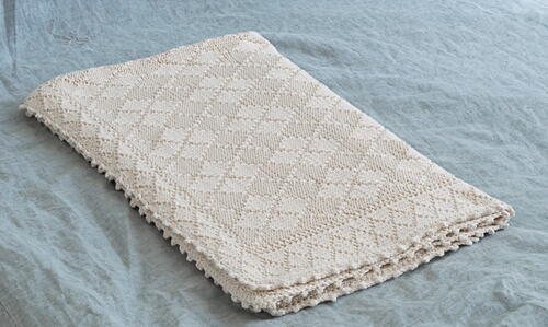 Knit Argyle Baby Blanket