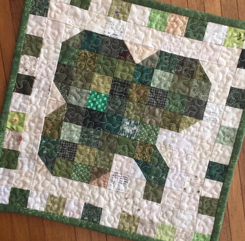 Scrappy Mini Quilt Pattern ~ Shamrock Shenanigan