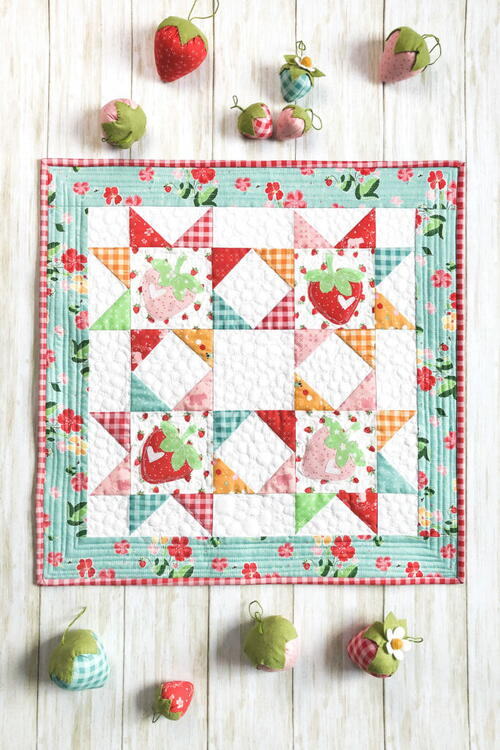 Strawberry Springtime Mini Quilt