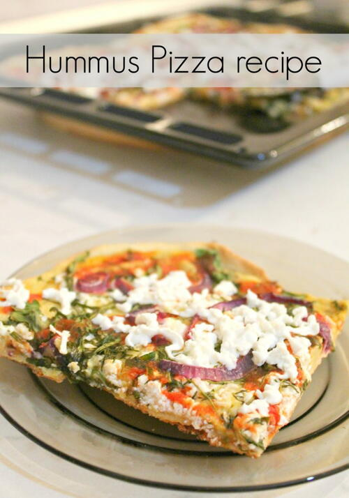 Vegetarian Hummus Pizza Recipe