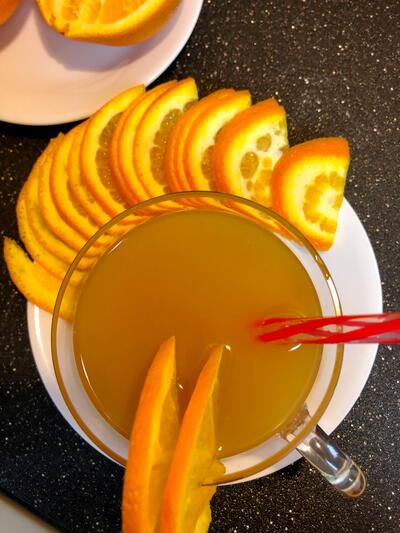 Amaretto Sunset Mimosas
