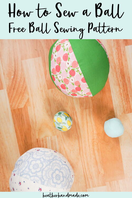 How To Sew A Ball - Free Ball Sewing Pattern