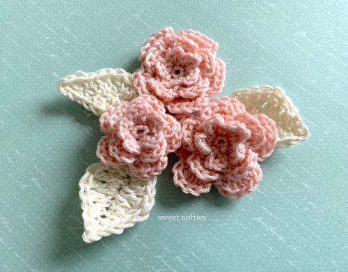 Layered Rose Flowers Applique