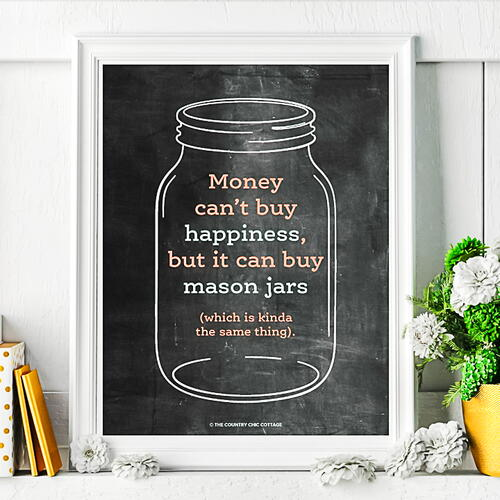 Printable Chalkboard Mason Jar Art