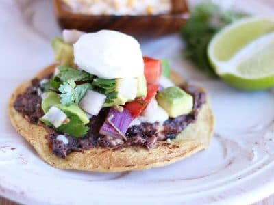 Black Bean Tostadas Are Perfect For Meatless Mondays