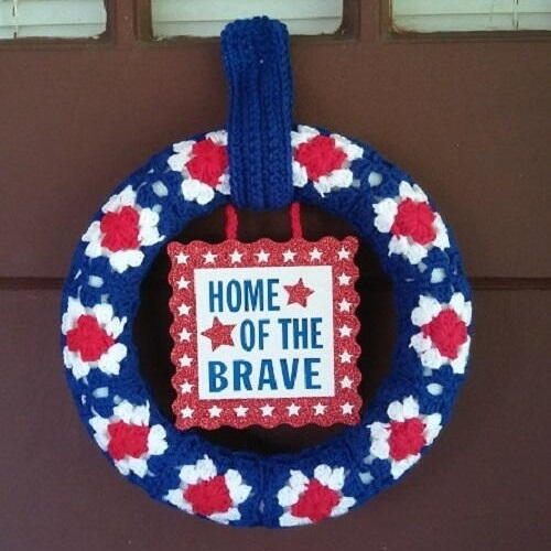 Grannys Patriotic Wreath