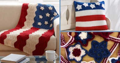 15 Red, White, and Blue Crochet Patterns
