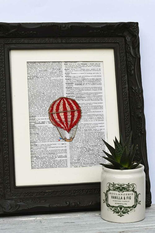 Embroidered Dictionary Pages