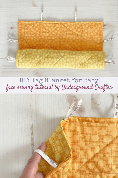 Diy Tag Blanket With Fabric Tags