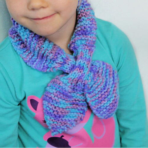 Bow Tie Keyhole Scarf For Kids