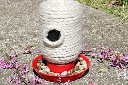 Diy Mason Jar Bee Feeder