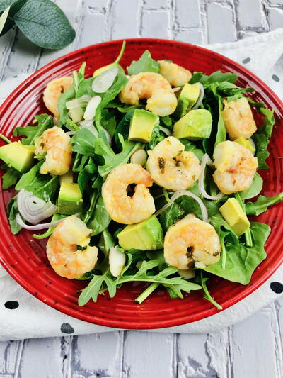 Shrimp Avocado Salad Recipe With Citrus Dressing