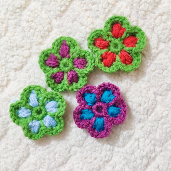 Puff Stitch Crochet Flower Pattern